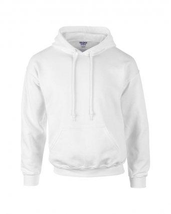 white premium overhead hoodie