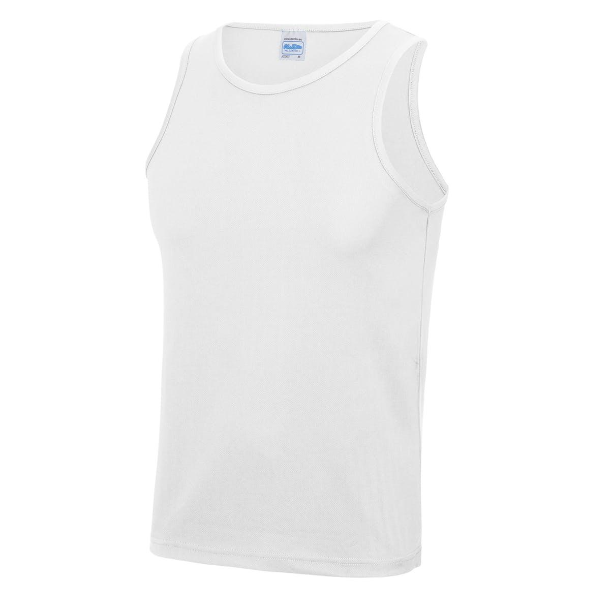 white sports vest