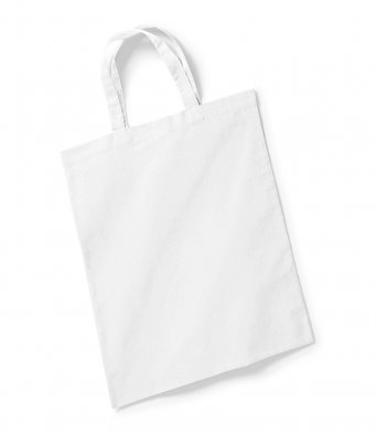 white tote bag short handles