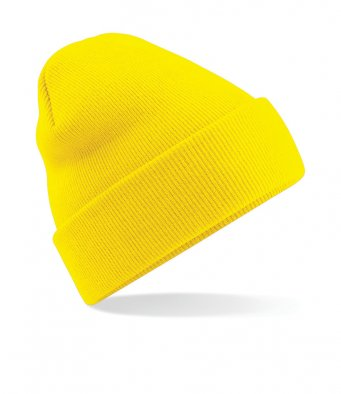 yellow cuffed beanie