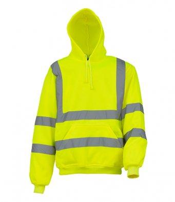 yellow hi vis hoodie