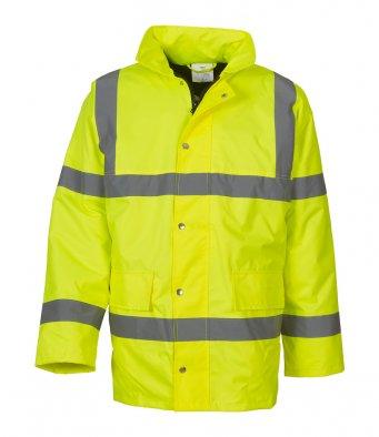 yellow hi vis motorway jacket