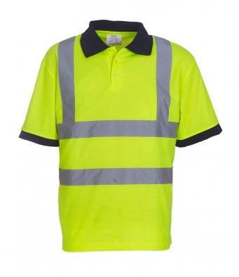 yellow hi vis polo shirt