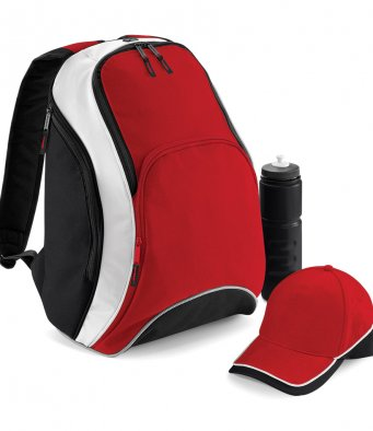 swim club branded backpack