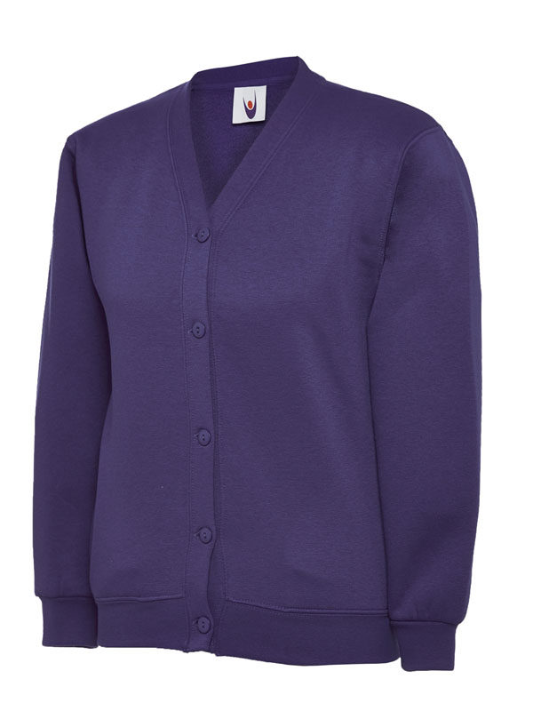 Childrens Cardigan UC207 purple