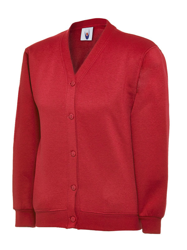 Childrens Cardigan UC207 red