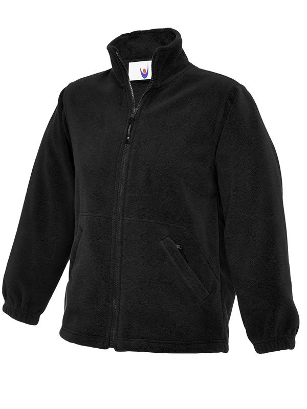 Childrens Full Zip Micro Fleece Jacket bk