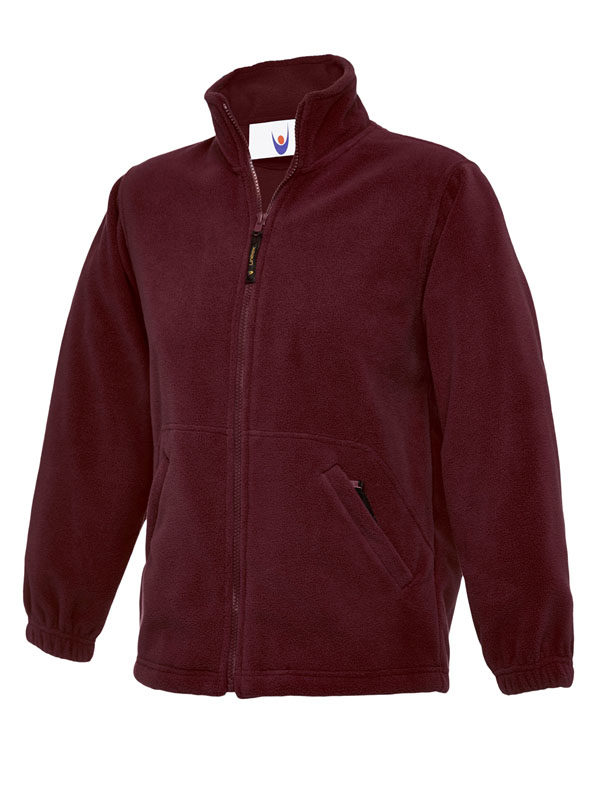 Childrens Full Zip Micro Fleece Jacket maroon