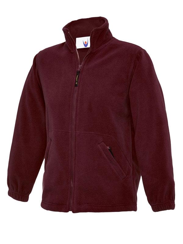 Childrens Full Zip Micro Fleece Jacket maroon