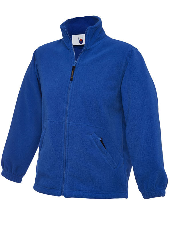 Childrens Full Zip Micro Fleece Jacket royal