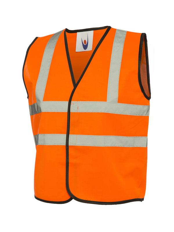 Childrens Hi Viz Waist Coat UC806 orange