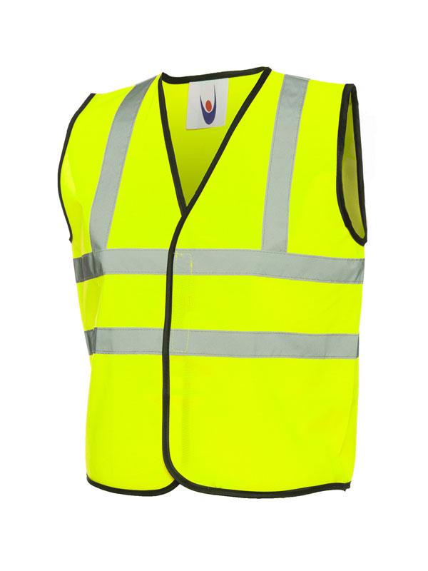 Childrens Hi Viz Waist Coat UC806 yellow