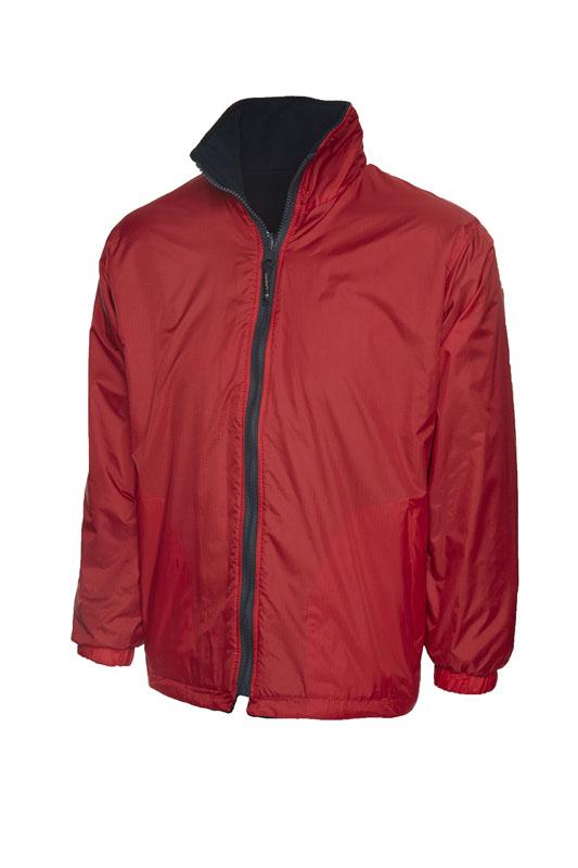 Childrens Reversible Fleece Jacket rd nv