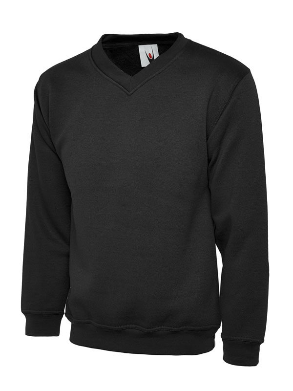 Childrens V Neck Sweatshirt UC206 black
