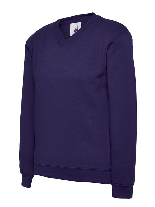 Childrens V Neck Sweatshirt UC206 purple