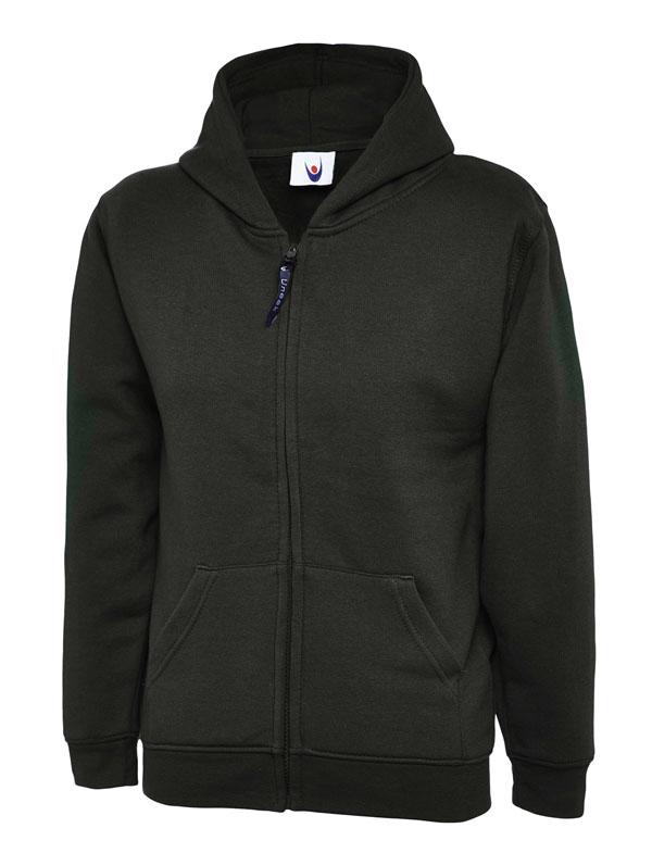 Childrens Zip Sweatshirt UC506 bk