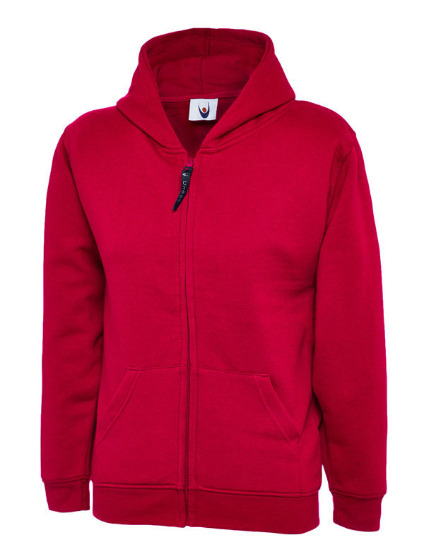 Childrens Zip Sweatshirt UC506 red