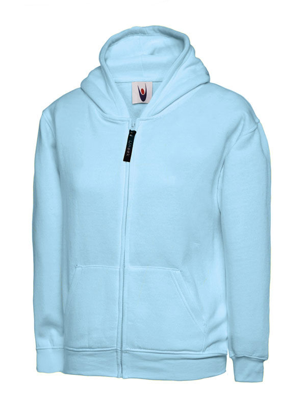 Childrens Zip Sweatshirt UC506 sky