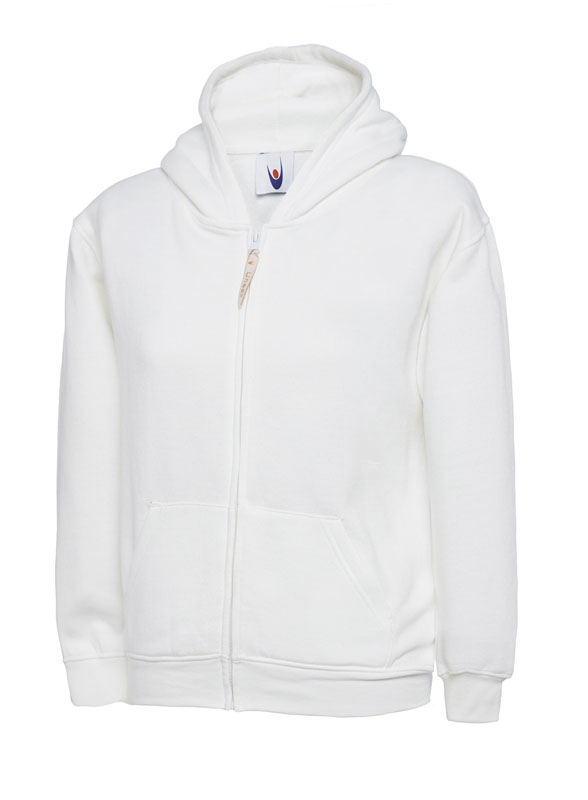 Childrens Zip Sweatshirt UC506 white