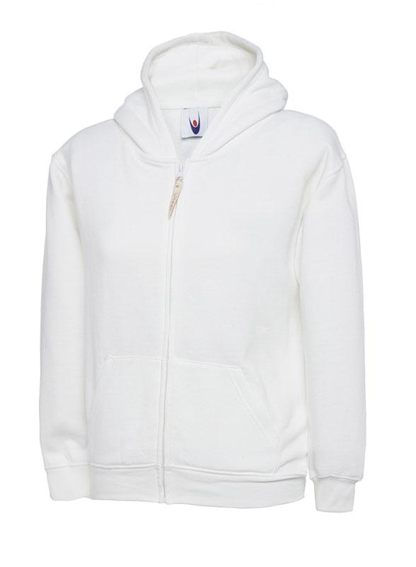 Childrens Zip Sweatshirt UC506 white