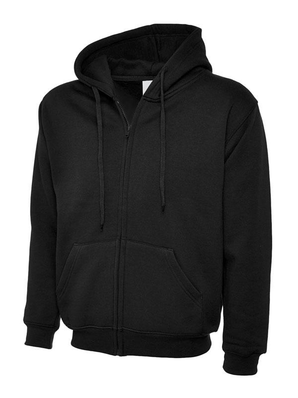 Classic Full Zip Hooded Sweatshirt UC504 bk