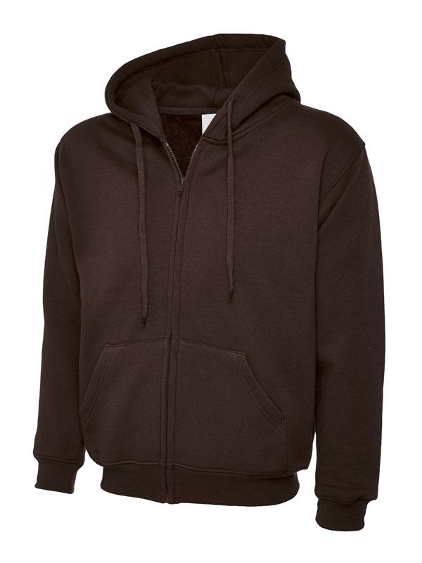 Classic Full Zip Hooded Sweatshirt UC504 brown