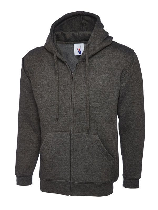 Classic Full Zip Hooded Sweatshirt UC504 charcoal