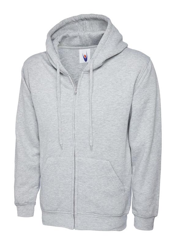 Classic Full Zip Hooded Sweatshirt UC504 hg