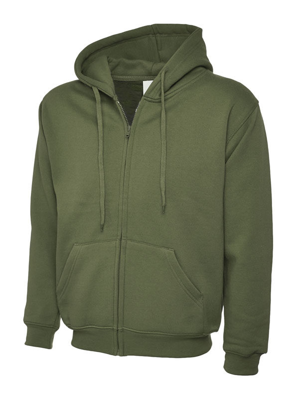 Classic Full Zip Hooded Sweatshirt UC504 olive