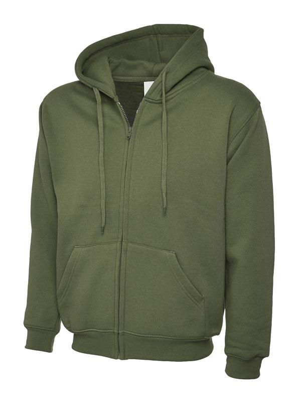 Classic Full Zip Hooded Sweatshirt UC504 olive