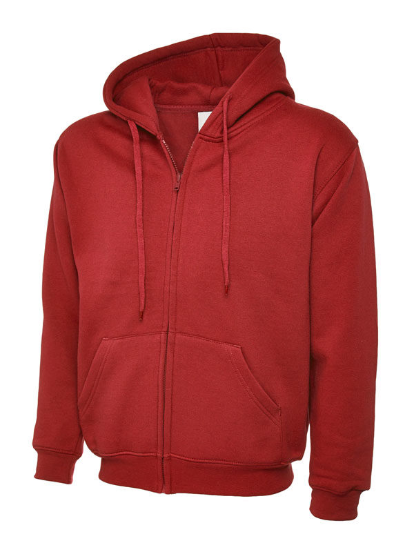 Classic Full Zip Hooded Sweatshirt UC504 red
