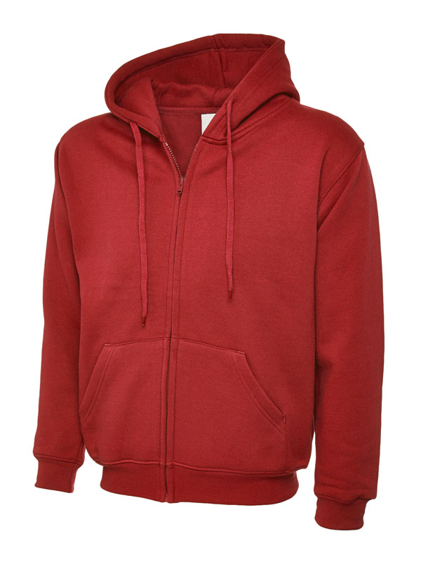 Classic Full Zip Hooded Sweatshirt UC504 red