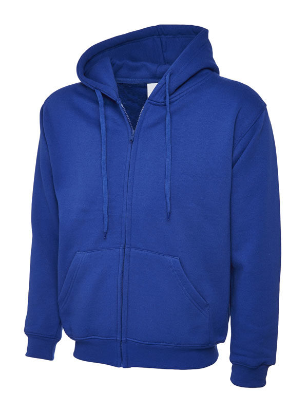 Classic Full Zip Hooded Sweatshirt UC504 royal