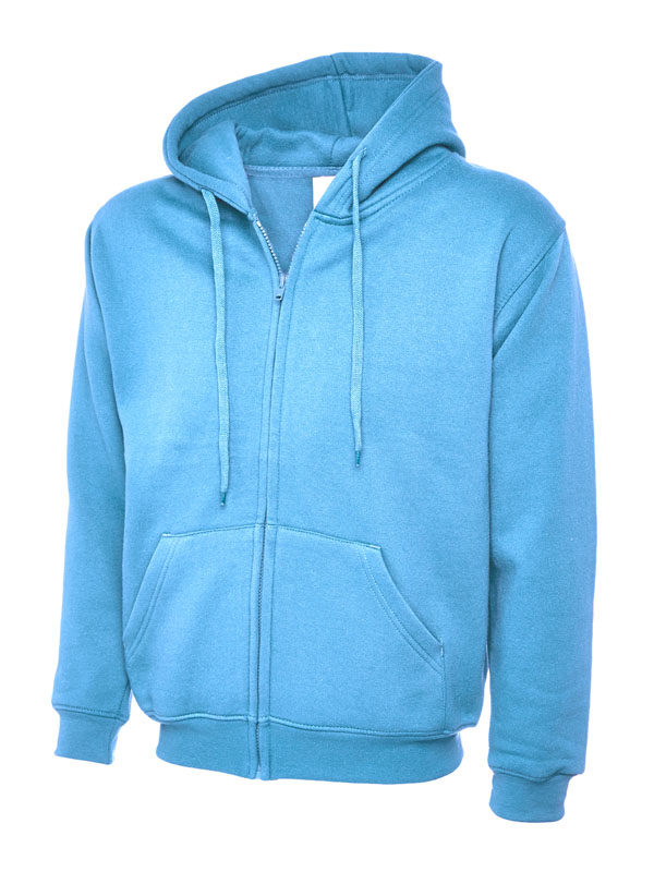 Classic Full Zip Hooded Sweatshirt UC504 sky