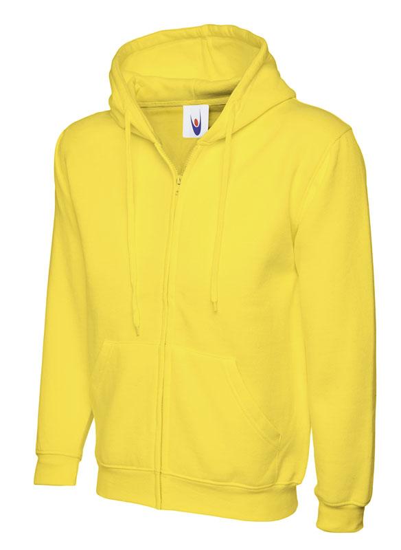 Classic Full Zip Hooded Sweatshirt UC504 yellow