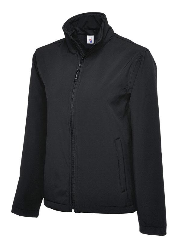 Classic Full Zip Soft Shell Jacket UC612 bk