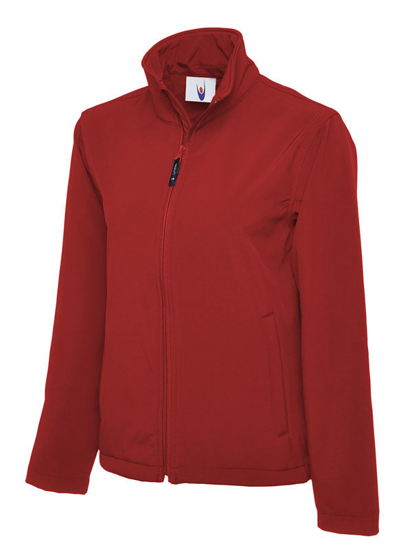 Classic Full Zip Soft Shell Jacket UC612 red