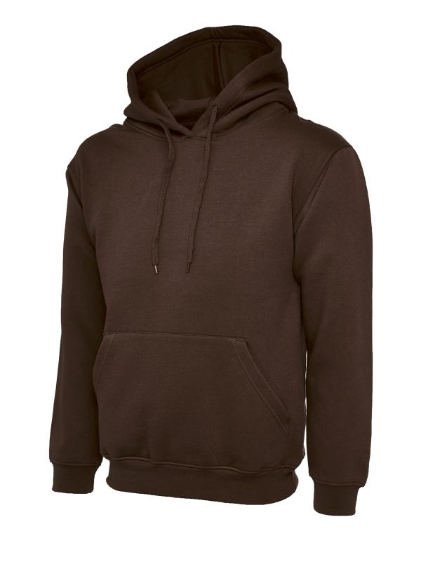 Classic Hooded Sweatshirt UC502 brown