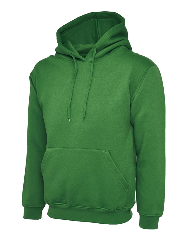 Classic Hooded Sweatshirt UC502 kelly green