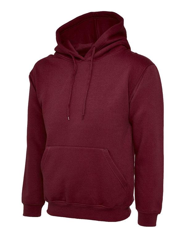 Classic Hooded Sweatshirt UC502 maroon