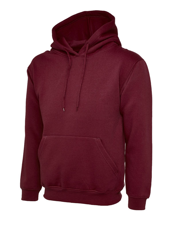 Classic Hooded Sweatshirt UC502 maroon