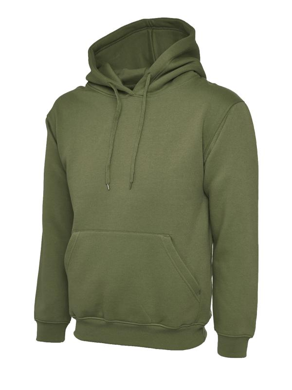 Classic Hooded Sweatshirt UC502 olive