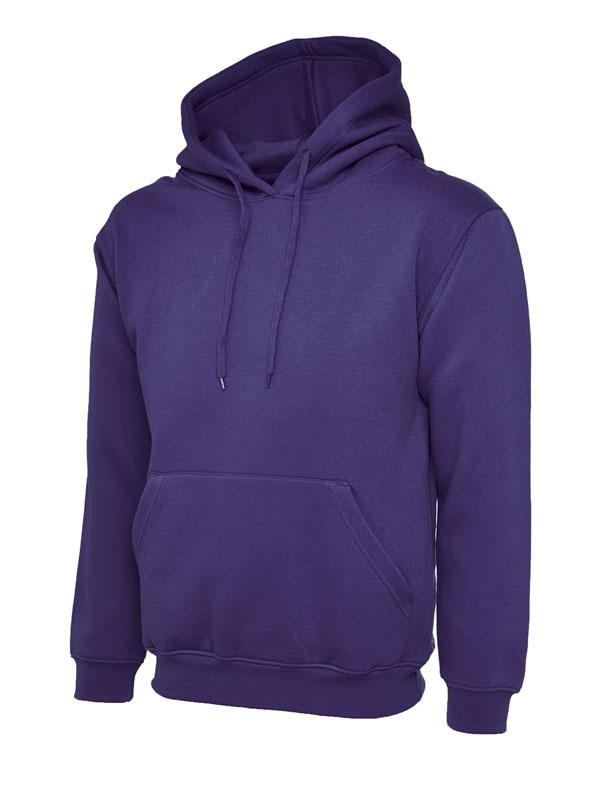 Classic Hooded Sweatshirt UC502 purple