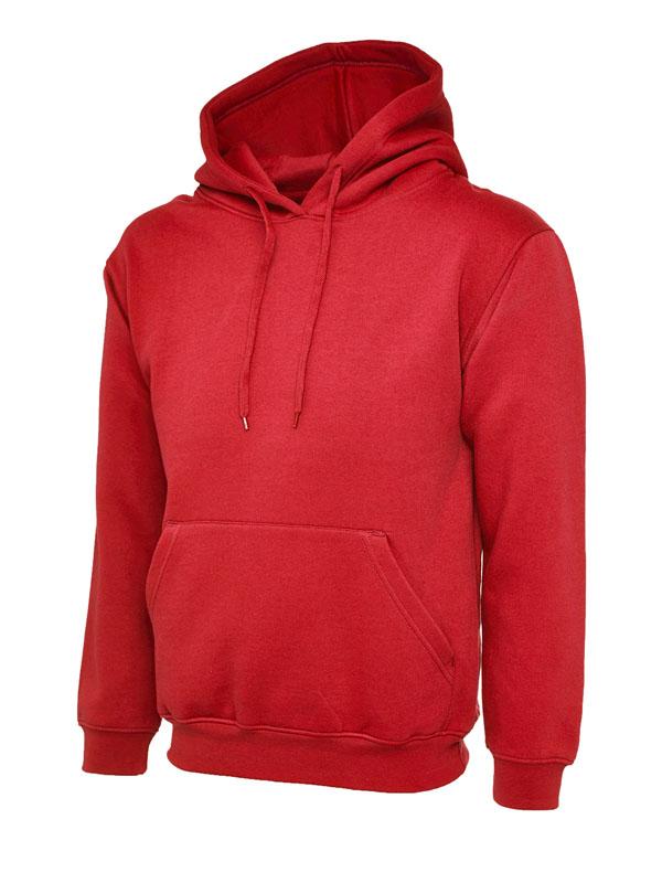 Classic Hooded Sweatshirt UC502 red