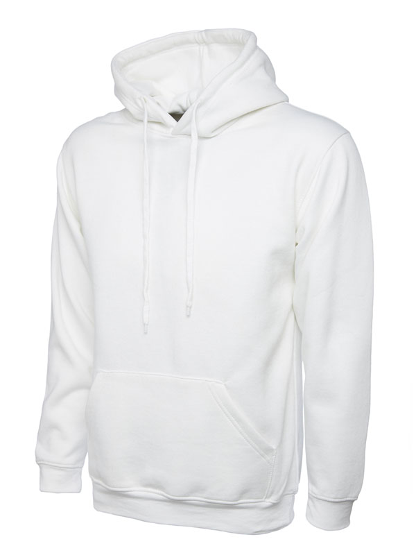 Classic Hooded Sweatshirt UC502 white
