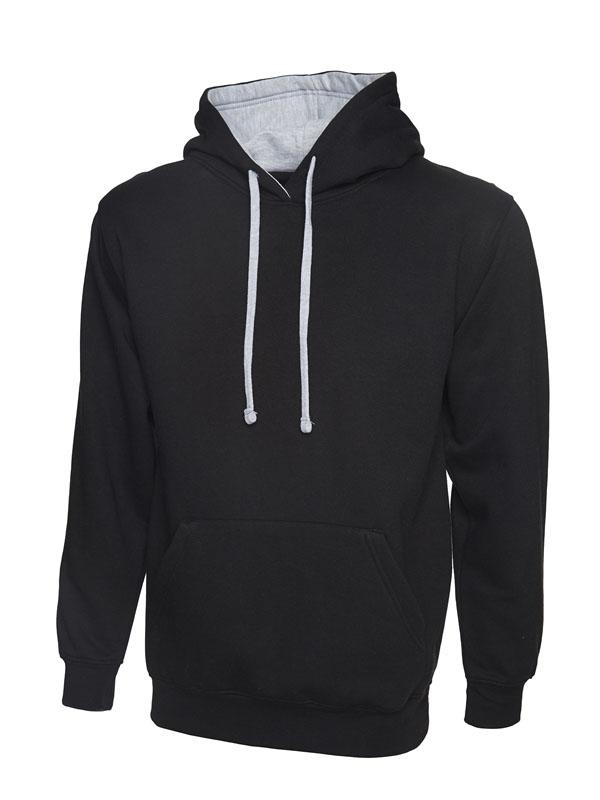 Contrast Hooded Sweatshirt UC507 bk