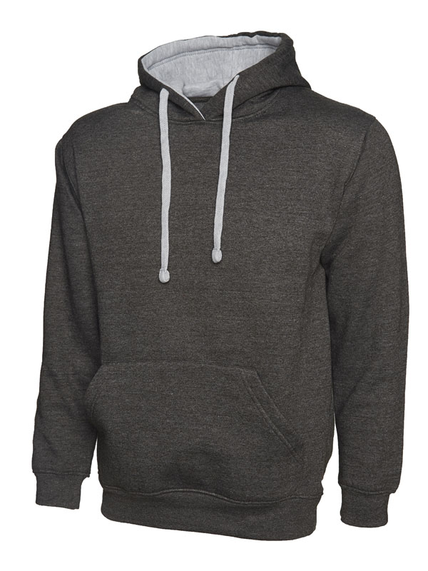 Contrast Hooded Sweatshirt UC507 cc hg