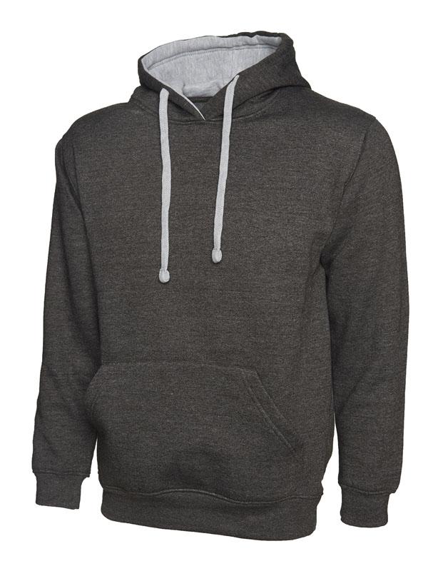 Contrast Hooded Sweatshirt UC507 cc hg