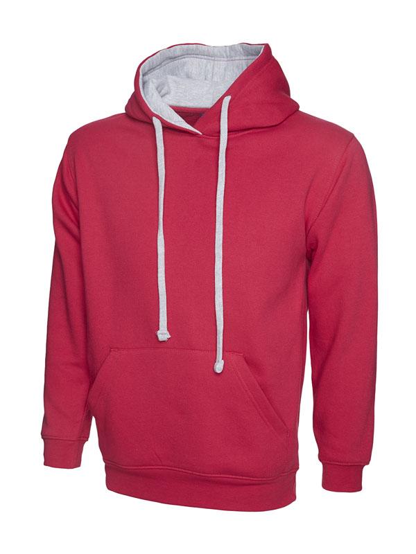 Contrast Hooded Sweatshirt UC507 fuchsia