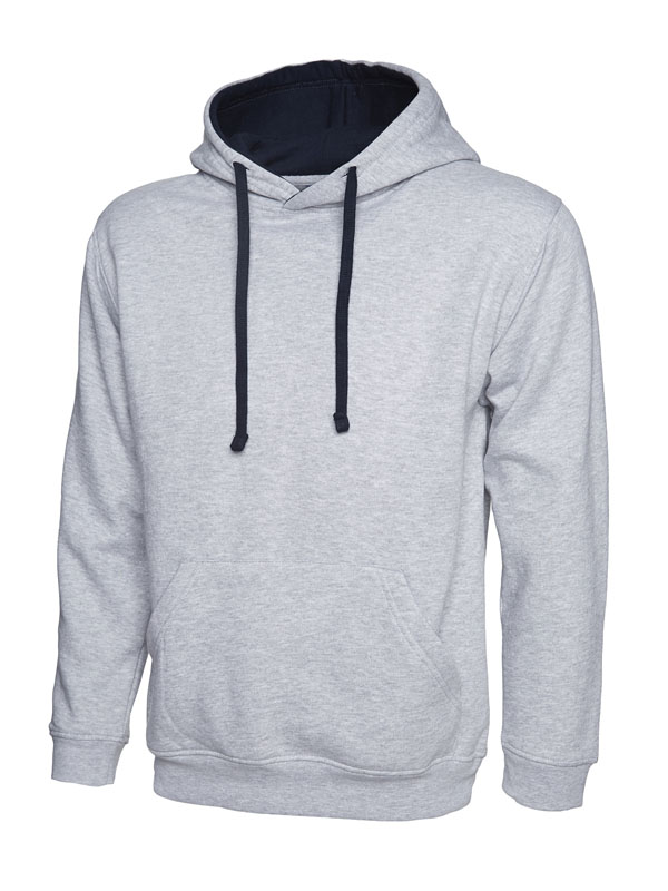 Contrast Hooded Sweatshirt UC507 hg nv